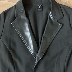 WINDSOR Pleather Black Blazer